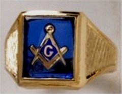 3rd Degree Masonic Ring 10KT OR 14KT Open or Solid Back, White or Yellow Gold, #712
