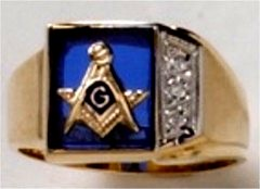 3rd Degree Masonic Ring 10KT OR 14KT Open or Solid Back, White or Yellow Gold, #714