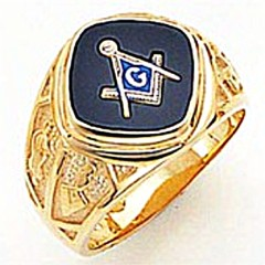 3rd Degree Masonic Blue Lodge Ring 10KT OR 14KT, Solid Back, White or Yellow Gold, #141b