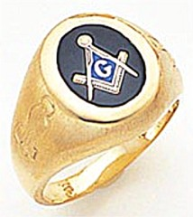 3rd Degree Masonic Blue Lodge Ring 10KT OR 14KT, Solid Back, White or Yellow Gold, #144b