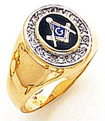 3rd Degree Masonic Blue Lodge Ring 10KT OR 14KT, Solid Back, White or Yellow Gold, #148b