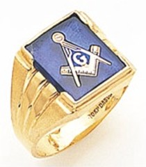 3rd Degree Masonic Blue Lodge Ring 10KT OR 14KT, Solid Back, White or Yellow Gold, #149b