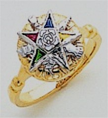 Eastern Star 10Kt or 14KT, Yellow or White Gold #8