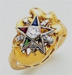 Eastern Star 10Kt or 14KT, Yellow or White Gold #14