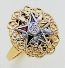 Eastern Star 10Kt or 14KT, Yellow or White Gold #15
