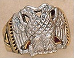 Scottish Rite Rings, 10KT or 14KT Gold, Solid Back,  #1115