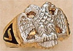 Scottish Rite Rings, 10 KTor 14KT Gold, Solid Back  #1116