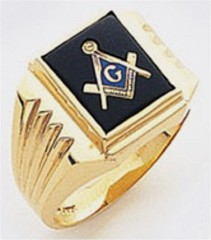 3rd Degree Masonic Blue Lodge Ring 10KT OR 14KT, Solid Back, White or Yellow Gold, #119B