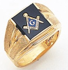 3rd Degree Masonic Blue Lodge Ring 10KT OR 14KT, Solid Back, White or Yellow Gold, #120B