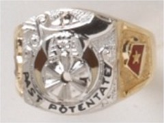 PAST POTENTATE Shrine Rings 10KT or 14KT Yellow or White Gold, Open or Solid Back  #16a