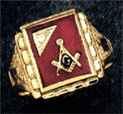 3rd Degree Blue Lodge Masonic Ring 10KT OR 14KT Yellow or White Gold  Open or Solid Back #501