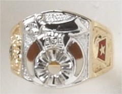 Shrine Ring 10KT or 14KT Yellow or White Gold, Open Back or Solid Back #28