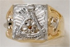 Masonic Past Master Rings 10KT or 14KT YELLOW OR WHITE Gold, Open or Solid Back #1033