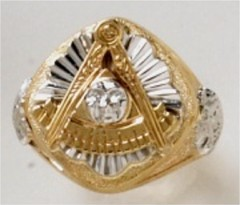 Masonic Past Master Rings 10KT or 14KT YELLOW OR WHITE Gold, Open or Solid Back #1038