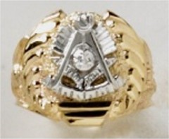 Masonic Past Master Rings, 10KT or 14KT YELLOW OR WHITE GOLD, Open or  Solid Back #1012