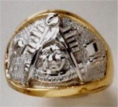 Masonic Past Master Rings, 10KT or 14KT YELLOW OR WHITE GOLD, Open or  Solid Back #1011