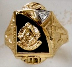 Masonic Past Master Rings 10KT or 14KT YELLOW OR WHITE Gold, Open or Solid Back #1022