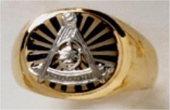 Masonic Past Master Rings 10KT or 14KT YELLOW OR WHITE Gold, Open or Solid Back #1037