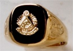 Masonic Past Master Rings 10KT or 14KT YELLOW OR WHITE Gold, Open or Solid Back #1035