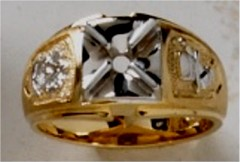 Masonic Past Master Rings 10KT or 14KT YELLOW OR WHITE Gold, Open or Solid Back #1028