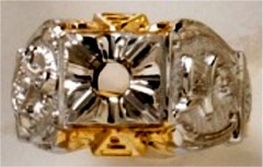 Masonic Past Master Rings 10KT or 14KT YELLOW OR WHITE Gold, Open or Solid Back #1040
