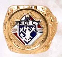 Knights of Columbus Rings,3rd Degree,10KT or 14KT Gold Open or Solid Back #1903