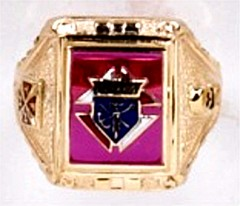 Knights of Columbus Rings,3rd Degree,10KT or 14KT Gold Open or Closed  Back #1919