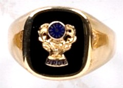 B.P.O.  ELKS  Ring 10Kt or 14KT, Yellow or White Gold Open or Solid Back #3100