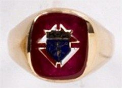 Knights of Columbus Ring,3rd or 4th Degree, 10KT or 14KT Gold, Open or Solid Back #1921
