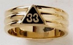 33RD DEGREE MASONIC RING #1604A