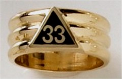 33RD DEGREE MASONIC RING #1605