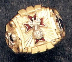 Knights of Columbus Rings,4th Degree,10KT or 14KT Gold Open or Solid Back #1905