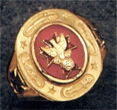 Knights of Columbus Rings 4th Degree,10KT or 14KT Gold Open or Solid  Back #1916