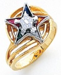 Eastern Star 10Kt or 14KT, Yellow or White Gold #21