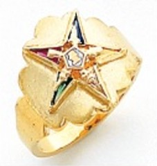 Eastern Star 10Kt or 14KT, Yellow or White Gold #23