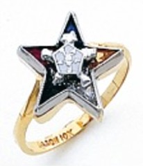 Eastern Star 10Kt or 14KT, Yellow or White Gold #25