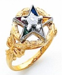 Eastern Star 10Kt or 14KT, Yellow or White Gold #28