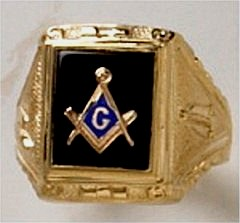 3rd Degree Blue Lodge Masonic Ring 10KT or 14KT Yellow or White Gold, Open or Solid Back #522