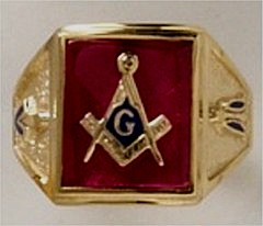 3rd Degree Blue Lodge Masonic Ring 10KT or 14KT YELLOW OR WHITE Gold, Solid Back   #414