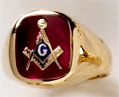 3rd Degree Blue Lodge Masonic Ring 10KT or 14KT YELLOW OR WHITE Gold, Solid Back   #411