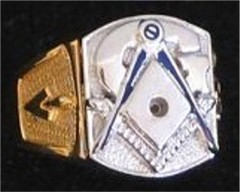 3rd Degree Masonic Blue Lodge Ring 10KT or 14KT Gold, Open or Solid Back #328