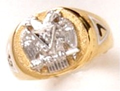Scottish Rite Rings 10KT or 14KT Gold Open or Solid Back #1141