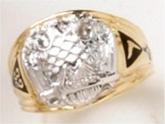 Scottish Rite Rings 10KT or 14KT Open Back  #1130