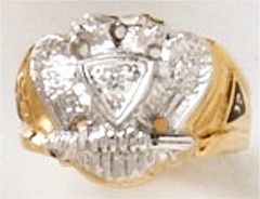 Scottish Rite Rings 10KT or 14KT, Solid Back  #1127