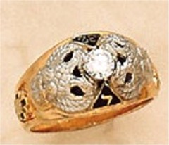 Scottish Rite Rings, 10KTor 14KT,Solid Back,  14 DEGREE, 18 DEGREE, 32ND DEGREE AND SHRINE, #1203