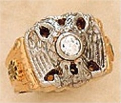 Scottish Rite Rings,10KTor 14KT, Solid Back 14 DEGREE, 18 DEGREE, AND 32ND,  #1206