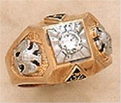 Scottish Rite Rings, 10KTor 14KT , Hollow Back 14 DEGREE AND 32ND,  #1207