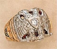 Scottish Rite Rings, 10KTor 14KT,Solid Back,  14 DEGREE AND 32ND, #1212