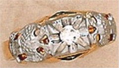 Scottish Rite Rings, 10KT or 14KT,Hollow Back, 14 AND 32ND, #1213