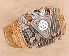 Scottish Rite Rings 10Kt or 14KT Hollow Back 14TH DEGREE AND 32ND, #1217